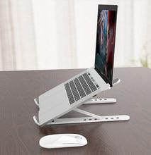 Przenośny stojak na laptopa składana podstawa uchwyt na notebooka dla Macbook Pro Lapdesk komputer PC uchwyt na laptopa chłodzenie Pad Riser Support