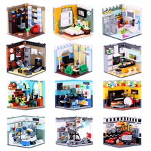 XINGBAO 01401/02 Genuine Building Blocks The Living House Set Building Bricks Educational Toys Compatible with LOGO blocks toys 2018 xingbao 01022 3046 pcs genuine the wanfu inn set house model building blocks bricks traditional diy toys for children