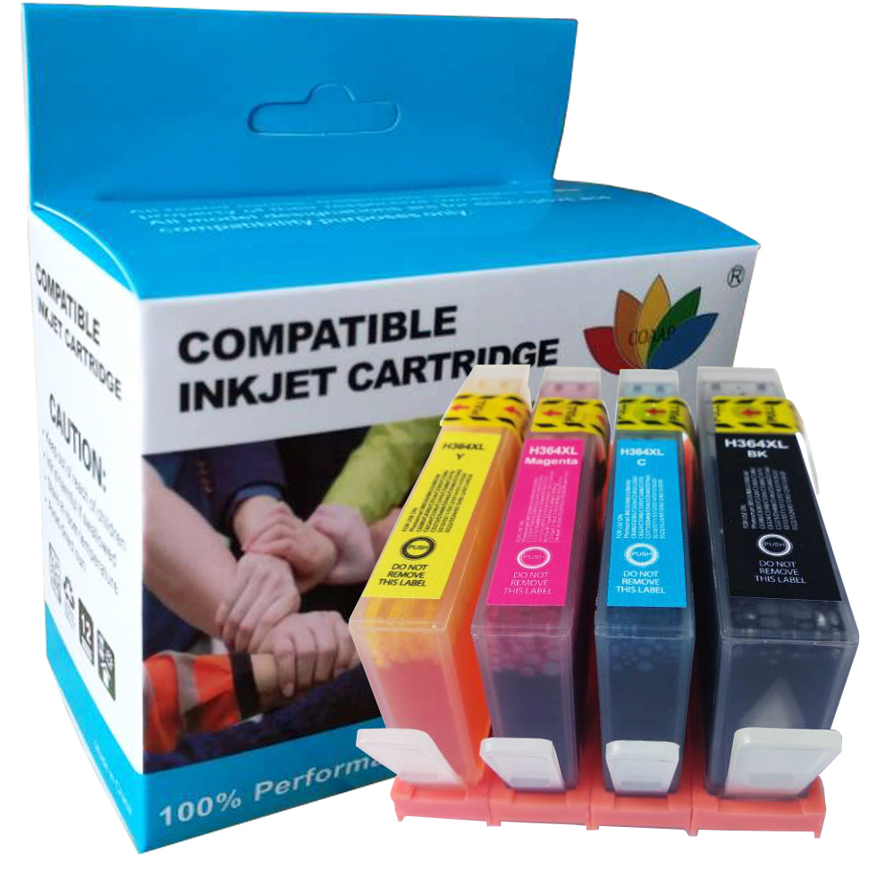 4x Compatible ink cartridges for hp364 Photosmart Plus B209 B209a B209b B209c B8550 C53244 C5380 C63244 C6380 D5460 Printer