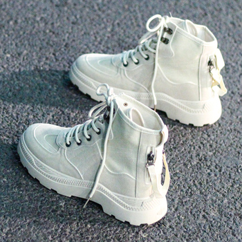 2020 New women boots High-top outdoor Booties Casual womens canvas shoes Autumn fashion Comfortable soft Retro Martin