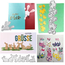 Stencil Scrapbooking Stamp Paper-Card Cutting-Dies Craft Easter-Bunnys-Eggs Metal Embossing-Decor