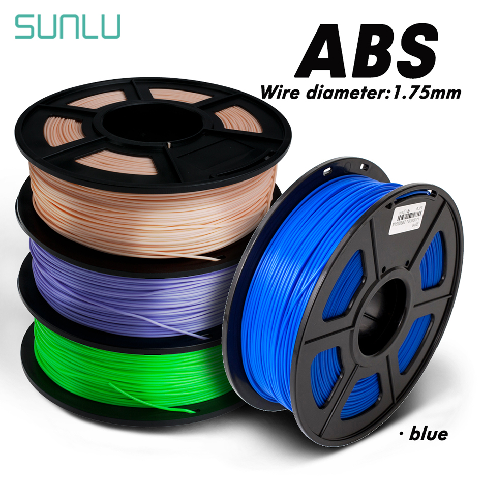 3D Printer Colorful ABS 1.75mm 1kg 3D Filament With Box Packing 100% No Bubble