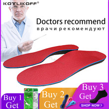 KOTLIKOFF Orthopedic Insoles Doctors recommend Best Material Orthotic Insole Flat Feet Arch Support Orthopedic Shoes Sole Pad(China)