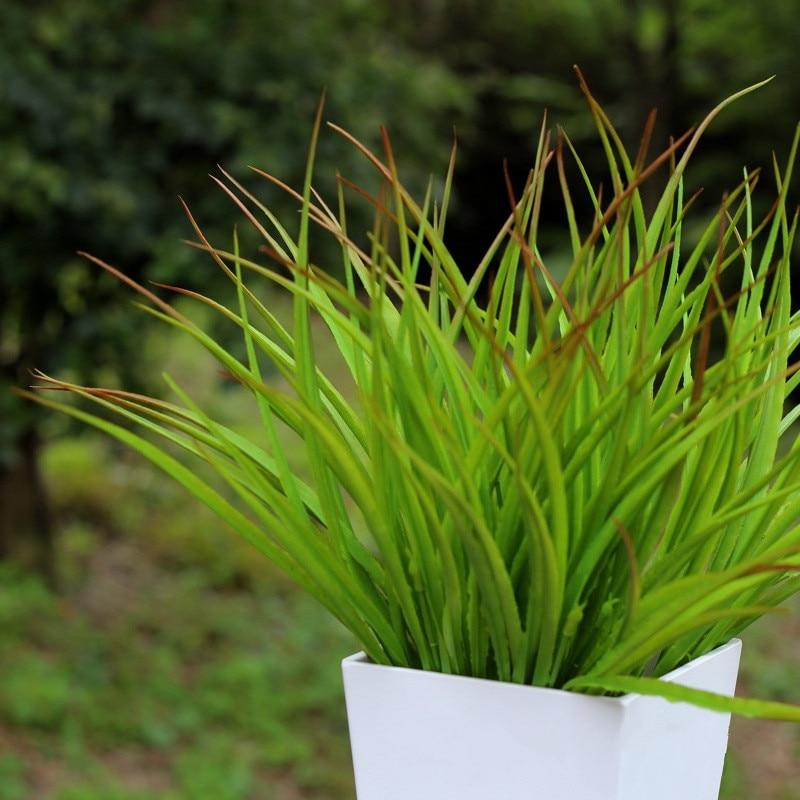 42cm Artificial Gradient Color Grass Bunch Tropical Fake Plants Potted Green Plastic Onion Grass Garden Hotel Balcony Home Decor