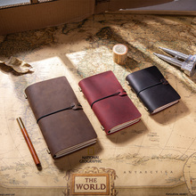 Hand travelers hand book magazine Crazy horse skin business notebook high-grade diary replaceable refill