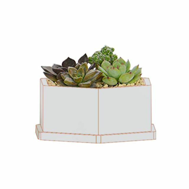 Plante fleur Pot Silicone moule bricolage ciment Succulent gypse à la main argile artisanat fleur bonsaï cendrier bougeoir moules Plaste
