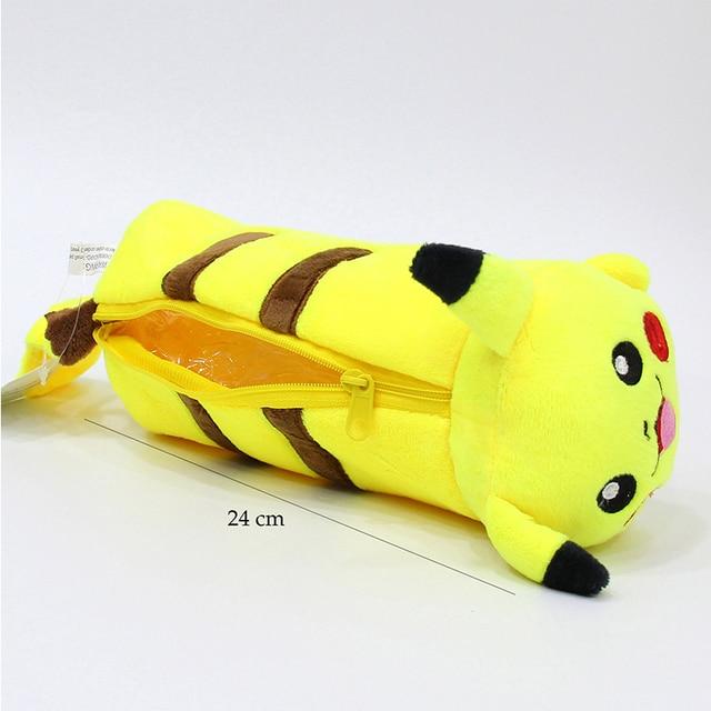 Ellen Brook 1 Pcs Cartoon Plüsch Pikachu Fall Nette Pokemon Bleistift Tasche Für Kinder Spielzeug Koreanische Briefpapier Pouch Büro Schule liefert