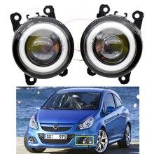 1pair Car Fog Light Kit Angel eye DRL Daytime Running Light For Opel Corsa D Astra Zafira B Signum Movano Meriva Tigra Agila