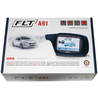 For Russian A91 Two Way Car Alarm System+ Engine Start LCD Remote Control Key A91 Russia Alarm