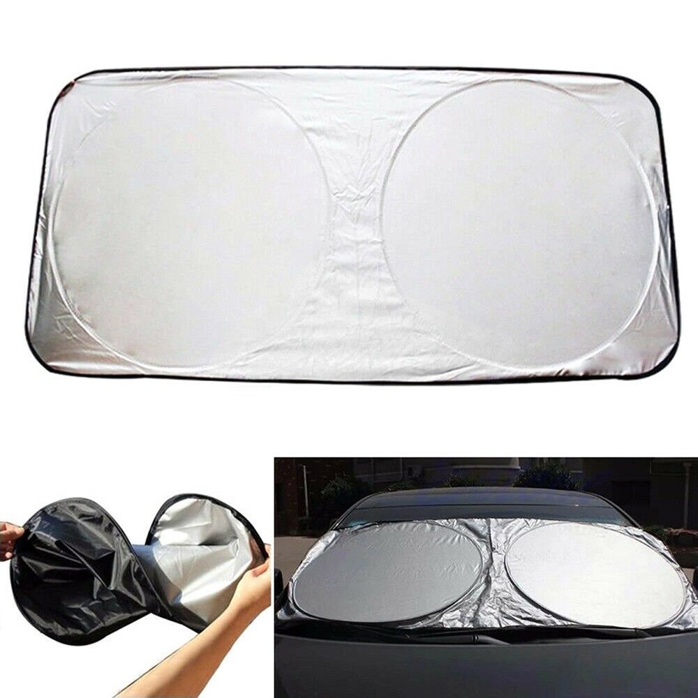 150 X 70cm Car Sunshade Sun Visor Shade Front Protection Rear Window Film Windshield Cover Uv Protect Reflector Car-styling