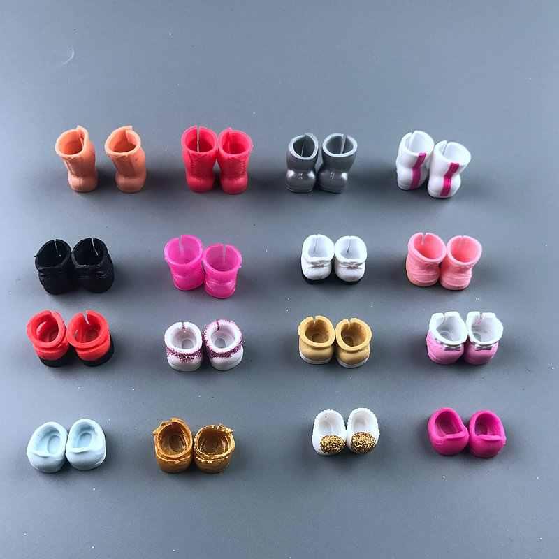 1 أزواج الأصلي جميلة دمية أحذية ل DIY لول كبيرة دمية الشكل ملحقات لعبة لعبة زينة المنتجات