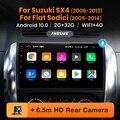 Автомагнитола AWESAFE PX9 для Suzuki SX4 2006 - 2013 Fiat Sedici, мультимедийный видеоплеер, навигация GPS, DVD, Android 10, no 2 din, 2din