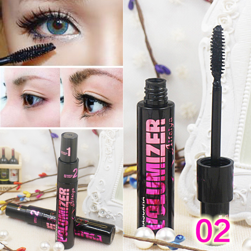 <font><b>4D</b></font> Faser <font><b>Mascara</b></font> Augen Make-Up-Tool Lange Curling Wasserdichte Wimpern Lash Extensions Make-Up Silk Graft Wachstum Flüssigkeit Professionelle image