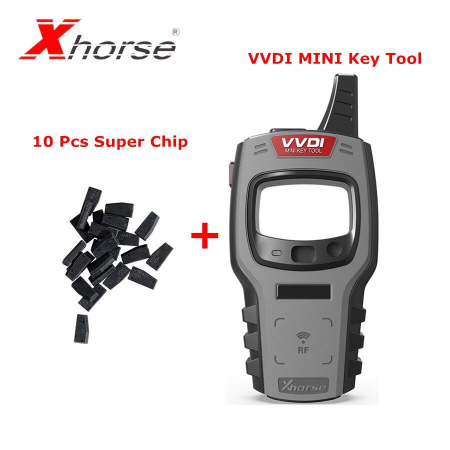 Xhorse VVDI Mini Schlüssel Werkzeug Remote Schlüssel Programmierer Unterstützung IOS und Android Globale Version Plus 10 stücke Xhorse Super Chip XT27A01