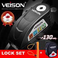VEISON Motorcycle Waterproof Alarm Lock Bike Steelmate Disc Lock Warning Security Anti theft Brake Rotor Padlock Alarma Moto