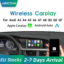 Andream Draadloze Carplay Module Voor Audi Q5/Q7/Q3 A3 A4 A5 A6 A7 Mmi Systeem Ondersteuning Android auto Spiegel-Link