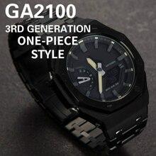 3nd 3rd para ga2100 pulseira de relógio moldura caso banda metal atualização 3 geração, ga2110 com ferramentas ponto acessórios por atacado marca