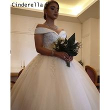 Crystal Wedding Dresses With Lace Up Luxury Off The Shoulder Floor Length Lace Applique Crystal Off The Shoulder Wedding Dresses(China)