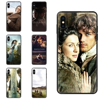 Outlander Tv Hot Jamie Fraser Good-looking Black Soft Top Detailed Popular Case For Apple iPhone 11 12 Pro X XR XS MAX 5 5S 5C image