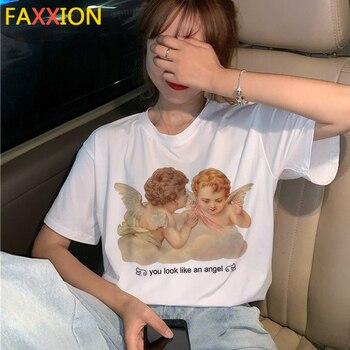 Camiseta de Nuevo Ángel 2020, divertida camiseta de verano para mujer, camiseta de verano de los 90s, camiseta gráfica Kawaii, Top de moda, camisetas para mujer