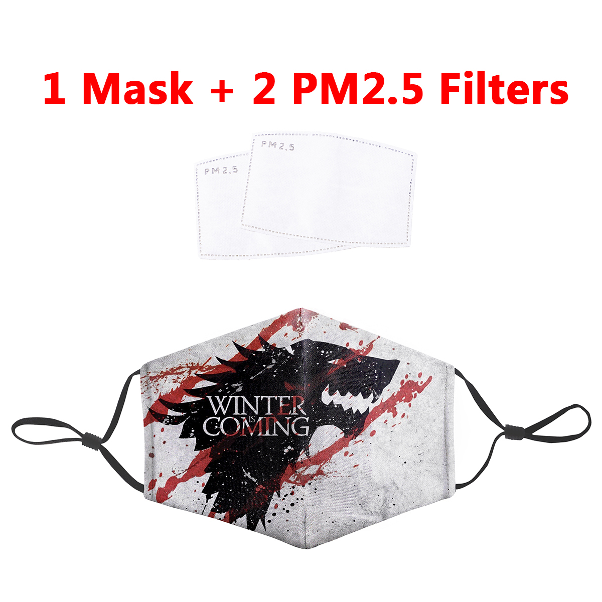 Game Of Thrones 3D Masks PM2.5 Filter Mouth-Muffle Winter Is Coming Dragon Print Anti Dust Face Mask Bacteria Proof Flu Mask