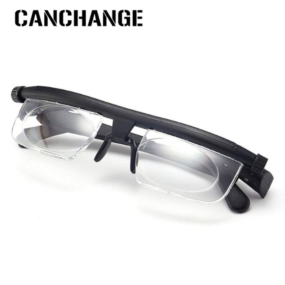 Focus Adjustable Lens Reading Myopia Glasses Men Women Variable Vision Strength Glasses Correction Binocular Drop Shipping