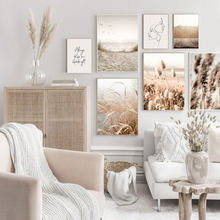 Beach Sand Dunes Reed Grass Bird Wall Art Canvas Paintings Abstract Line Nordic Posters And Prints Pictures Living Room Decor