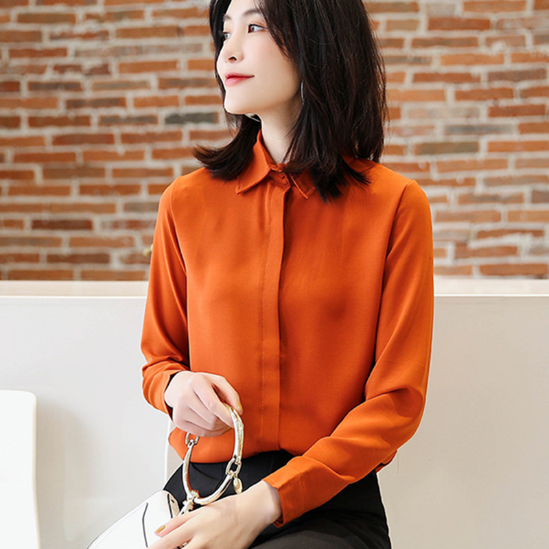 Women Shirts Korean Fashion Chiffon Shirt Plus Size Blouses OL Blusas Mujer De Moda 2019 Elegant Tops