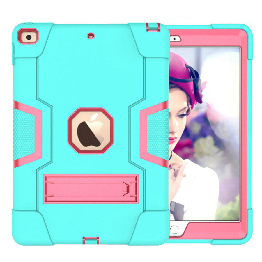 AR Red New Baby Safe Shockproof Armor Case For Apple iPad 10 2 2019 iPad 7 7th Generation