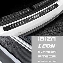 Защитная Наклейка для заднего бампера автомобиля из углеродного волокна для Seat Ibiza Leon Cupra E-racer Ateca Formentor FR Racing Accessories