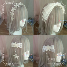 Hair-Band Handmade Lolita Side-Clip Flower Soft-Girl Sweet Bow Lace Barrettes
