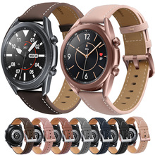 22 20mm Leather Strap for Samsung Galaxy Watch 3 41 45mm Galaxy Watch 42mm Bracelet For Huawei Watch GT2 46mm Replacement Strap