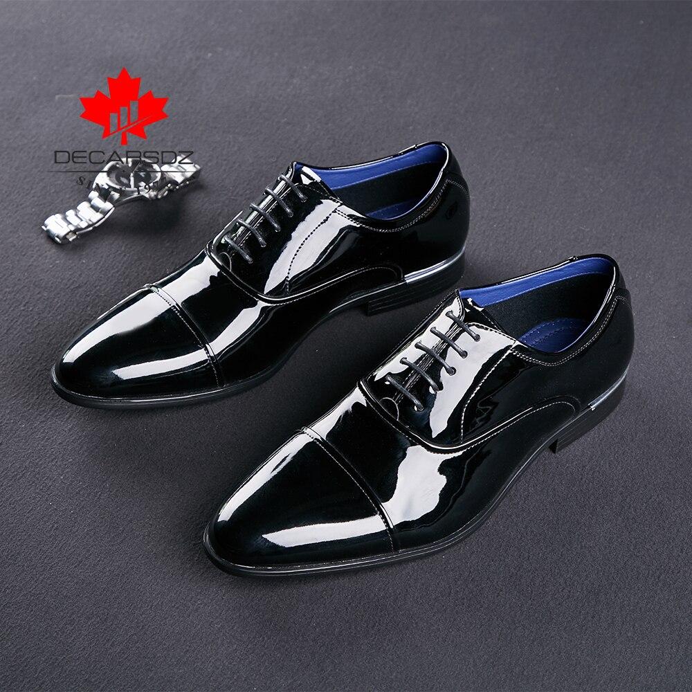 男性のフォーマルな靴 2019 ビジネス黒ファッションに設計ウェディング靴男性革の靴ブランド男性ドレスシューズ  グループ上の 靴 からの 正式な靴 の中 2