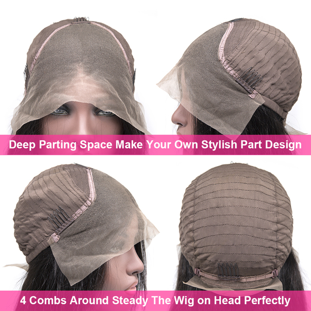 Peruki z krótkim bobem prosto koronki przodu włosów ludzkich peruk dla kobiet wstępnie oskubane z dzieckiem włosy Bob koronki przodu peruki bezklejowa peruka typu Lace