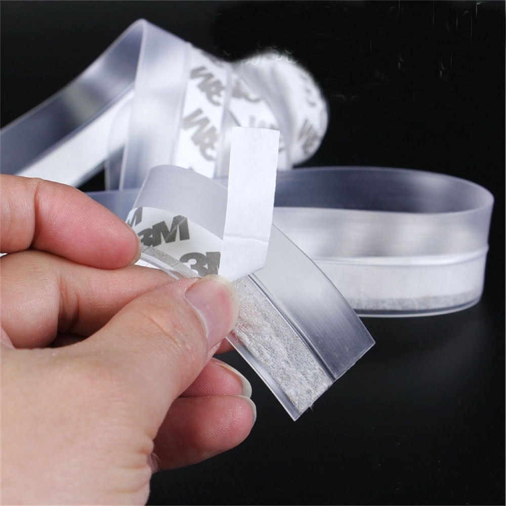 Transparent Windproof Silicone Door Window Sealing Strip Bar Door Sealing Sound Insulation Strip Self-adhesive Windproof AG23