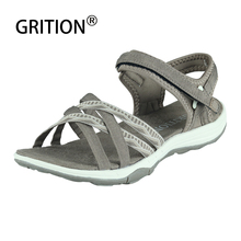 Women Sandals Hiking GRITION Summer Beach-Shoes Lightweight Quick-Drying Flat Breathable