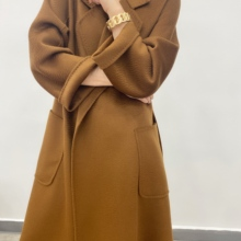 2020 autumn and winter new fashion cashmere coat women's long coat
