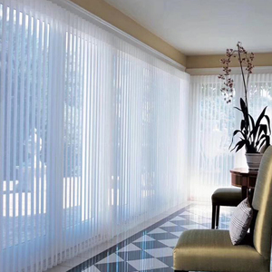Persianas verticales elegantes modernas de tela de transmisión, cortina Vertical, pantalla, cortina de gasa, balcón de la cortina, sala de estar y oficina