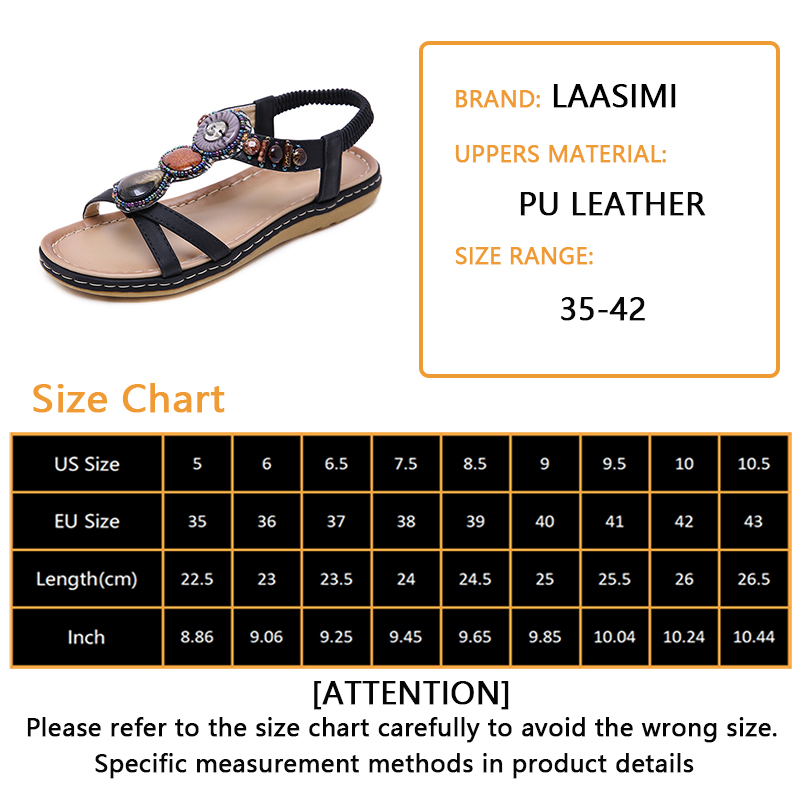 LAASIMI Women Sandals Vacation Fashion Summer Sandals Women Shoes Casual Slip On Summer Single Flats Shoe Ladies Shoes Plus 2019 in Women 39 s Sandals from Shoes