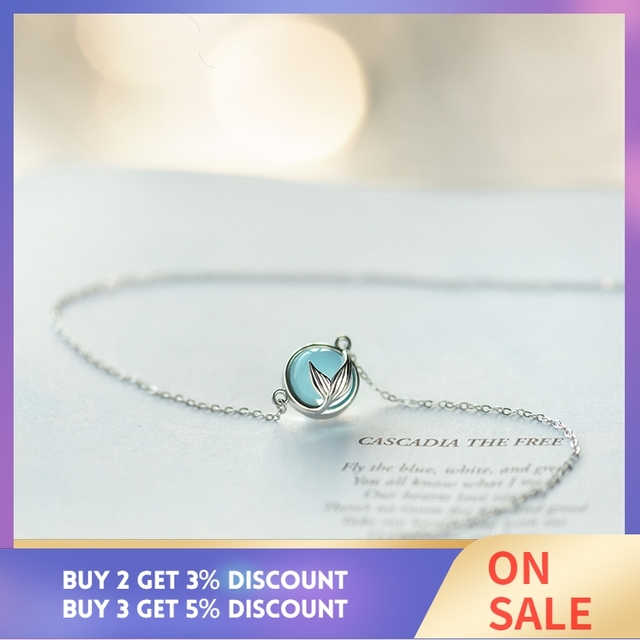 Thaya Mermaid Foam Bubble Design Crystal Necklace s925 silver Mermaid Tail Blue Pendant Necklace for Women Elegant Jewelry Gift 1