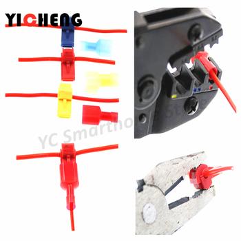24 sztuk 12 Pairs DIY zapakowane typu T szybkie złącze złącze zaciskowe kabel wygodne złącze wynik blokady szybkie złącze T1 T2 T3 tanie i dobre opinie Crimp terminal