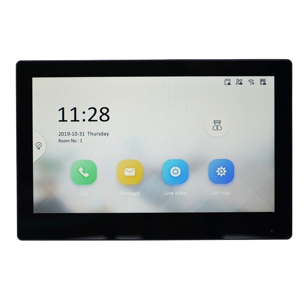 Version internationale originale HIK moniteur d'intérieur multilingue DS-KH8520-WTE1, 802.3af POE, app hik-connect, WiFi, interphone vidéo