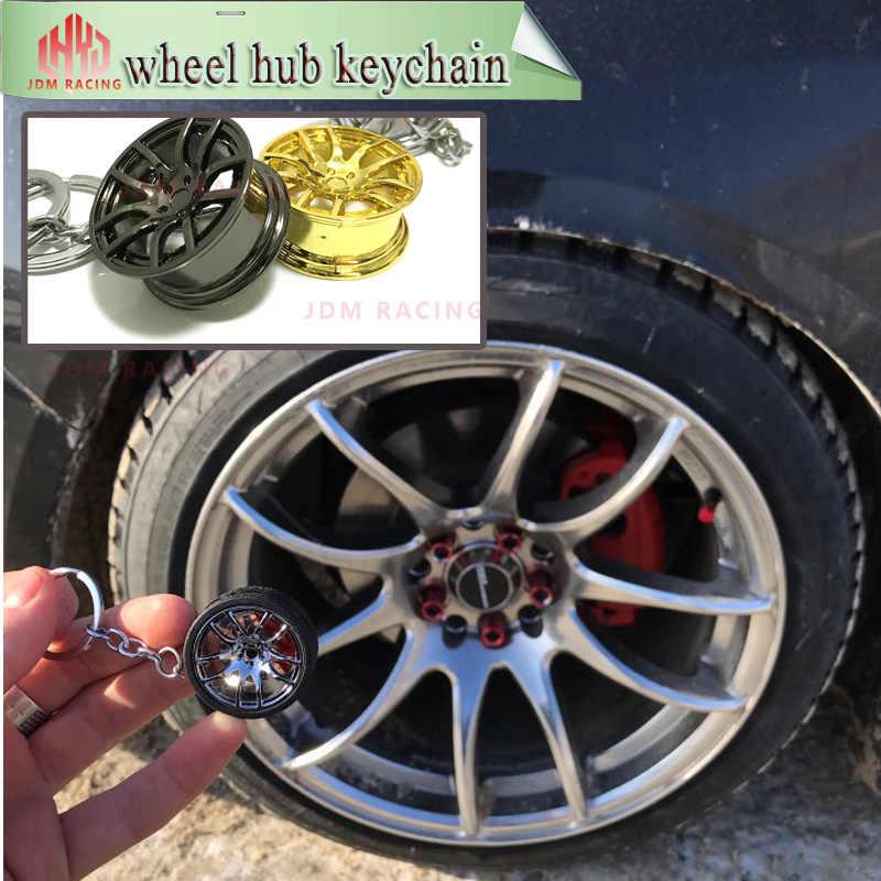 Cubos de Roda de Liga Carro de Drift cadeia chaveiro com design Roda Aro Afinação Keychain para HSP94122 Te37 94123 CS D4 TT02 os Fãs Do Carro DO RC