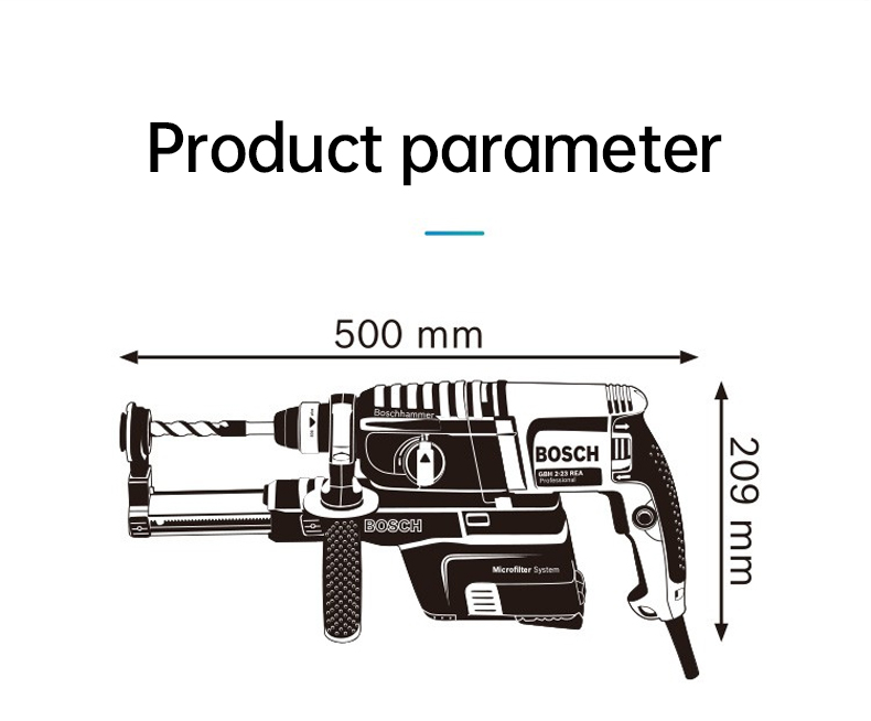 Product parameter of Bosch Electric Hammer Impact Drill