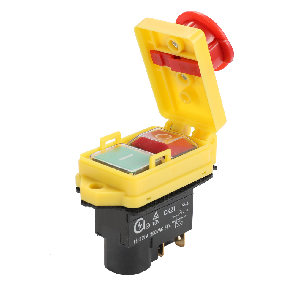 Universal Safety Switch Emergency Stop Safe Cut Off Killer Waterproof Dustproof Electromagnetic Switches For Grinding CK21D/250V
