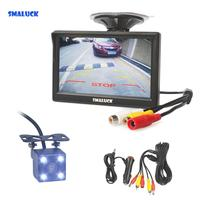 SMALUCK 5 Car Monitor Waterproof Reverse LED Night Vision Color Rear View Car Camera for Parking Assistance System