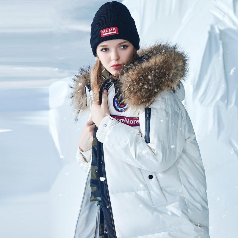 BOSIDENG Winter Women Goose Down Coat X-long Down Jacket For Harsh Winter Under 30 Waterproof Windproof Natural Fur B80142152J