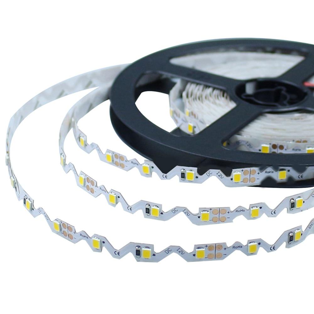 S Shape LED Strip Light SMD 2835 DC12V 5M 300LED Bendable Flexible LED Ribbon Backlight Channel Letters Advertising Light