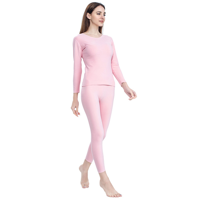Female Full Sleeve Intimate Lingerie Women Winter Thermo Lingerie Large Size 3XL Pink Warm Soft Sweater Thermal Underwear Set