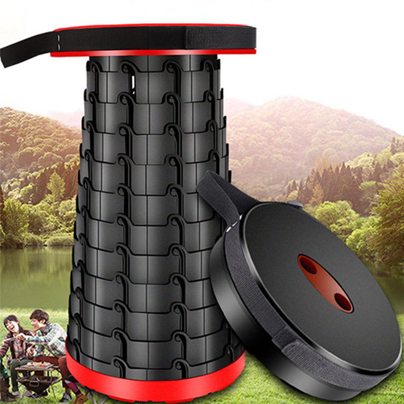 47*26CM Portable Outdoor Foldable Stool Retractable Plastic Travel Chair For Barbecue Camping Fishing Stools